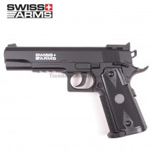 PISTOLA SWISS ARMS 1911 MATCH 4.5 MM CO2 CORREDERA METALICA