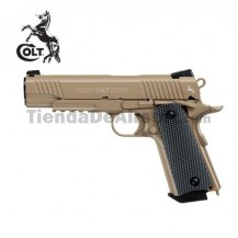 Colt M45 CQBP FDE Pistola Full Metal Blow Back 4,5mm CO2