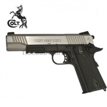 Colt 1911 Rail Gun Pistola 6mm Full Metal Blowback CO2 Plata Negro
