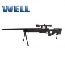 Sniper Well optica y bipode culata plegable