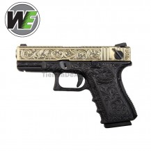 WE Ivory Engraved (Tipo Glock 23) Pistola Gas 6 MM