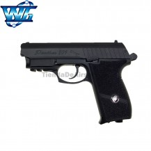 WG SPORT 801 con Láser -Negra - Full Metal - Blow Back - Pistola 4.5 mm - CO2