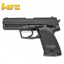 HFC Tipo H&K USP Negra - Pistola Muelle Pesada - 6 mm.