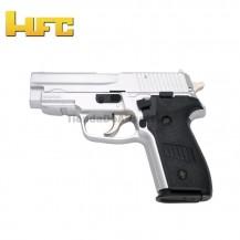 HFC Tipo Sig Sauer P228 Cromada - Pistola Muelle Pesada - 6 mm.