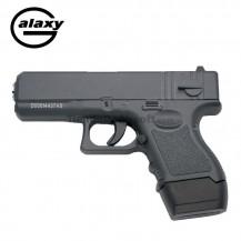 Galaxy G16  Negra  - Pistola Muelle - 6 mm Aleación metal zinc