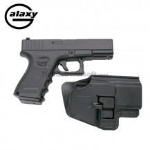 Galaxy G15 con Funda Rígida - FULL METAL - tipo Glock 19 - Pistola Muelle - 6 mm