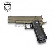 Golden Eagle Tipo Hi-Capa 5.1 - Negra - METAL - Pistola muelle - 6mm