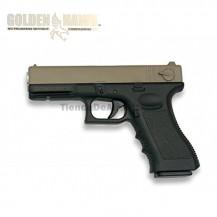 Golden Hawk  Tipo Glock - TAN-Negra - METAL - Pistola muelle - 6mm