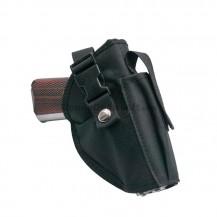 Funda de cintura de pistola y cargador nylon negra