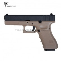 Saigo 17 (Tipo Glock 17) 6MM CO2 BlowBack Metal Slide Tan