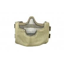 Steel Mesh Half Face Mask (Green Color)