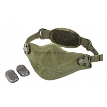Mask Half Face Neoprene/Cordura Mask (Green Color)