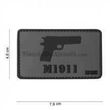 PARCHE PVC 3D M1911 GRIS-NEGRO