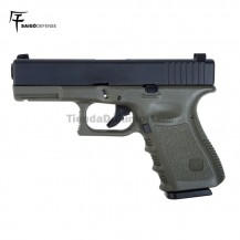 Saigo 23 ( Tipo Glock 23 ) Pistola 6MM Gas Blowback OD/Black