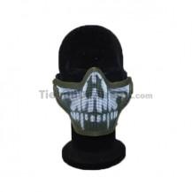 Mascara Airsoft 2G Half Face Calavera Cormillo Verde