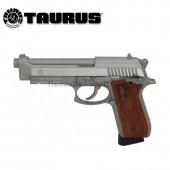 Pistola Taurus PT92 Plata/Madera