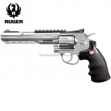 "Revólver Ruger SuperHawk 6"" Chrome - 6MM - CO2 - Full Metal"