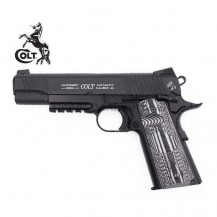COLT Government Combat Unit 1911 Rail Gun - Pistola 6MM - Full Metal - Blow Back